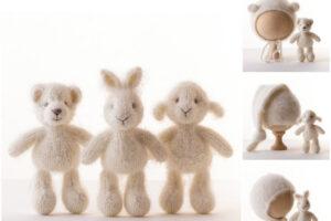 Alpaca Knitted Toy and Hat vastoysbaby on Etsy