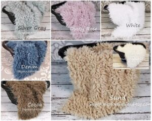Faux Fur Fabrics SkyeKnitsforBabies on Etsy