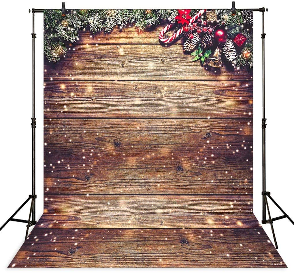 AllenJoy 5x7 Snowflake Gold Glitter Photo Backdrop Amazon