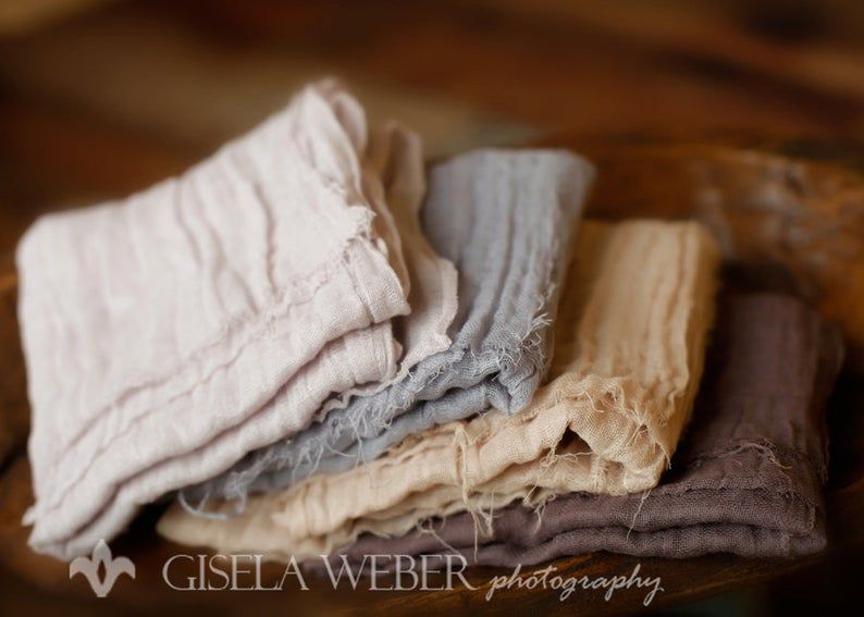Newborn Cheesecloth Gauze Wrap SnassyCrafter on Etsy