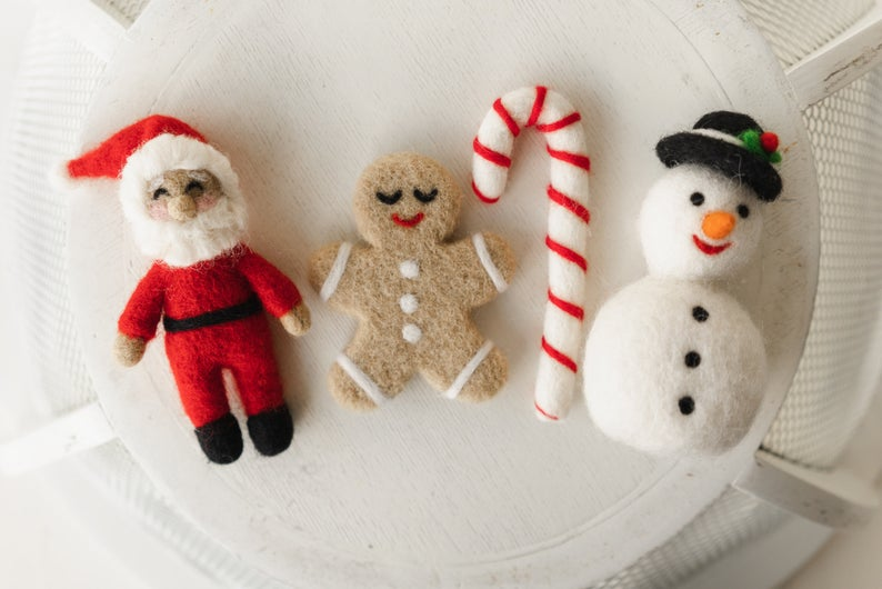 Newborn Felted Christmas Toys Propsly on Etsy
