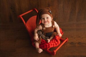 Newborn Red Wooden Sleigh Propsly on Etsy