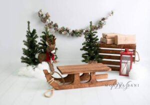 Newborn Rustic Style Wooden Sled Bee4BeeProps on Etsy