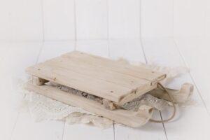 Newborn Unfinished Wood Sleigh Mamamada on Etsy