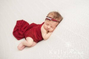Red Newborn Knit Stretch Wrap CustomPhotoProps on Etsy