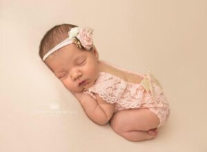 Newborn Baby Girl Lace Romper Outfit OlgaBabyProps on Etsy